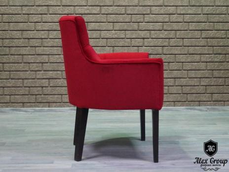 Кресло для ресторанов и баров синее в стяжке