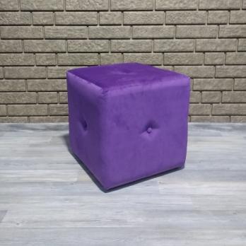 Пуфик фиолетовый велюр